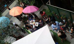 TANDEM Language Exchange, courtyard