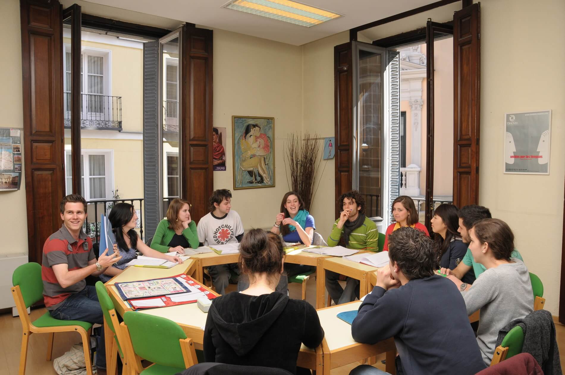 Students in class, TANDEM Madrid