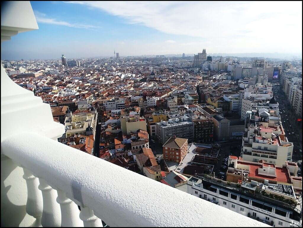 Madrid from the sky Hotel Riu