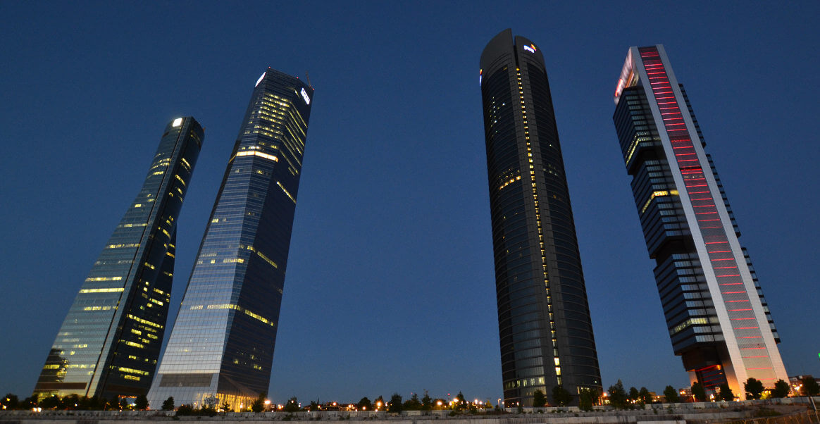 Cuatro Torres Business Area in Madrid (Spain)