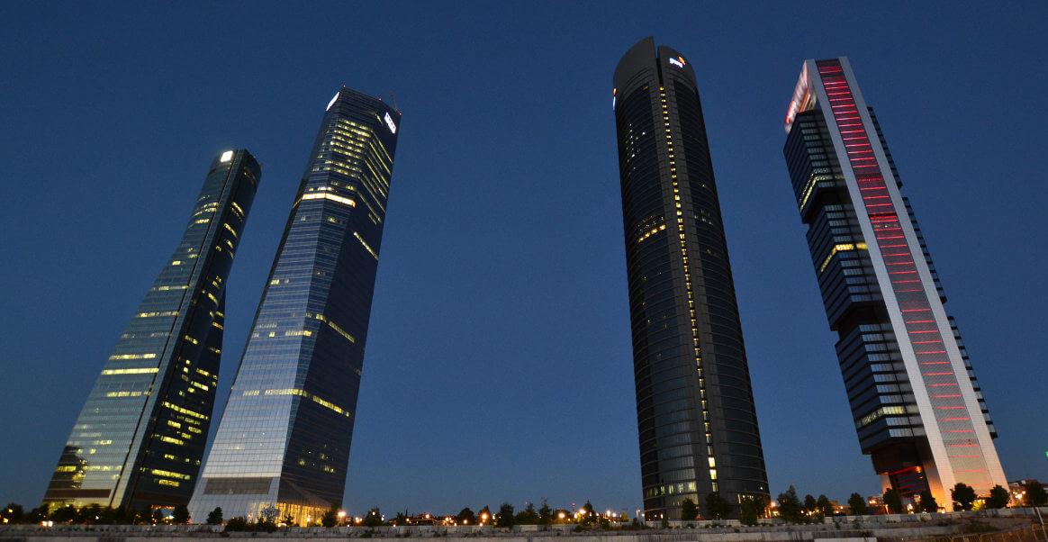 Las cuatro torres de Madrid (España)