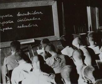 Campo de Concentración del Seminario de Monte Corbán, Santander, agosto de 1938