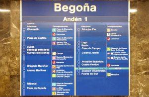 Ejercicio de español con audio: Indicaciones en el metro