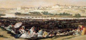 Pradera de San Isidro por Goya
