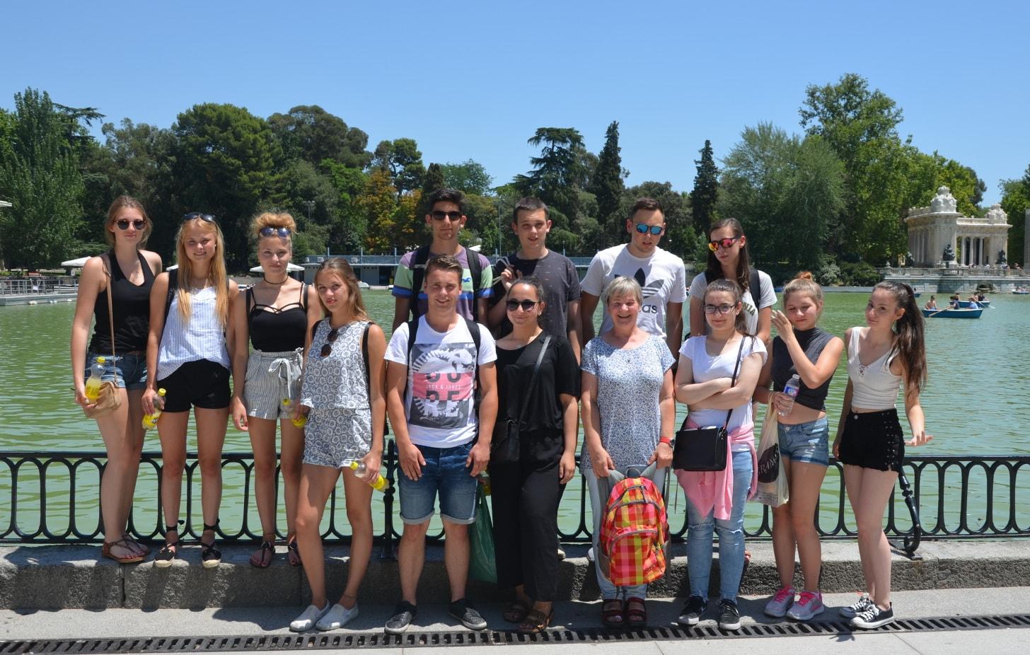 Die gruppe in El Retiro park
