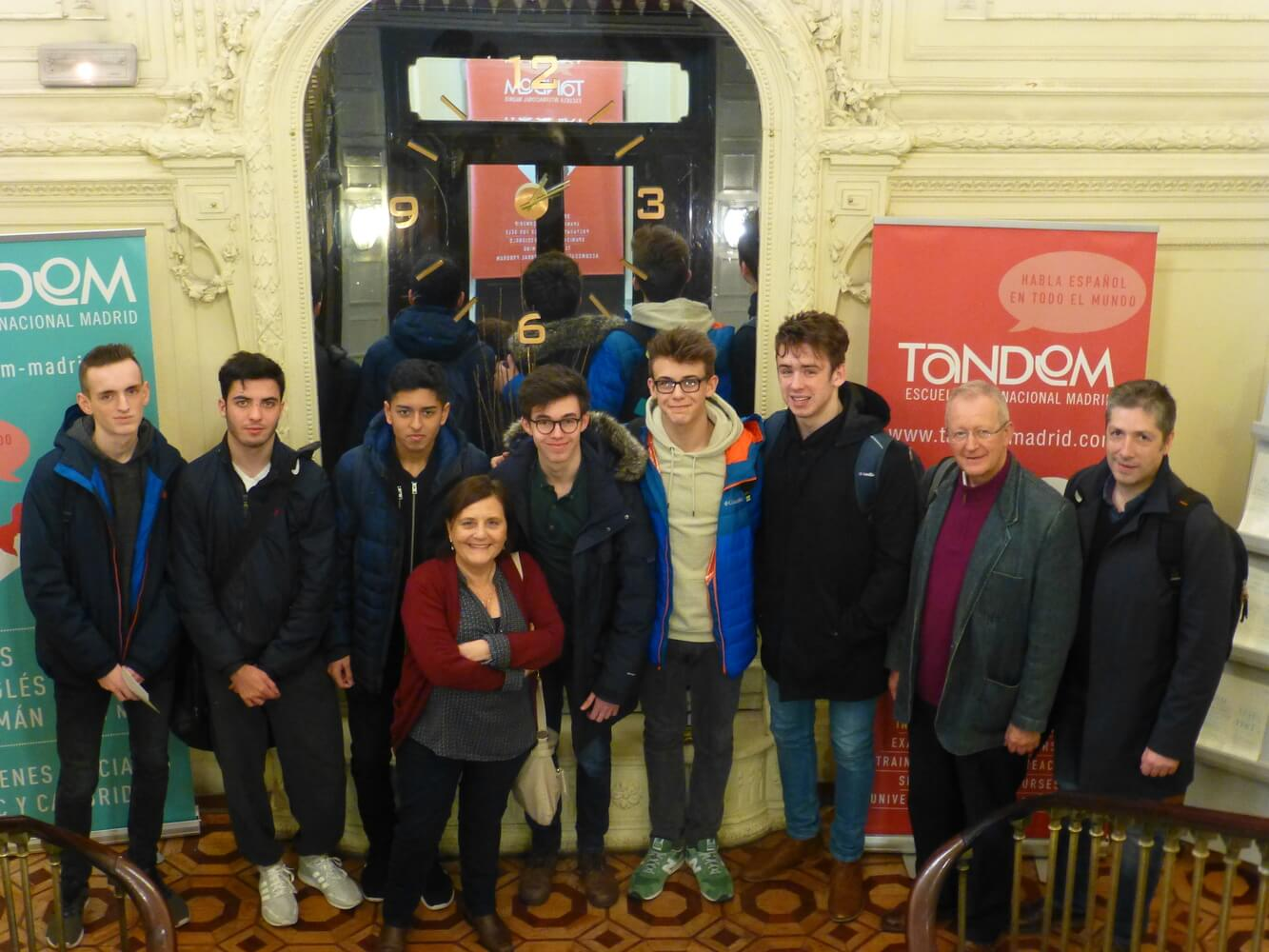 Visit of students of Manchester Grammar School, Students