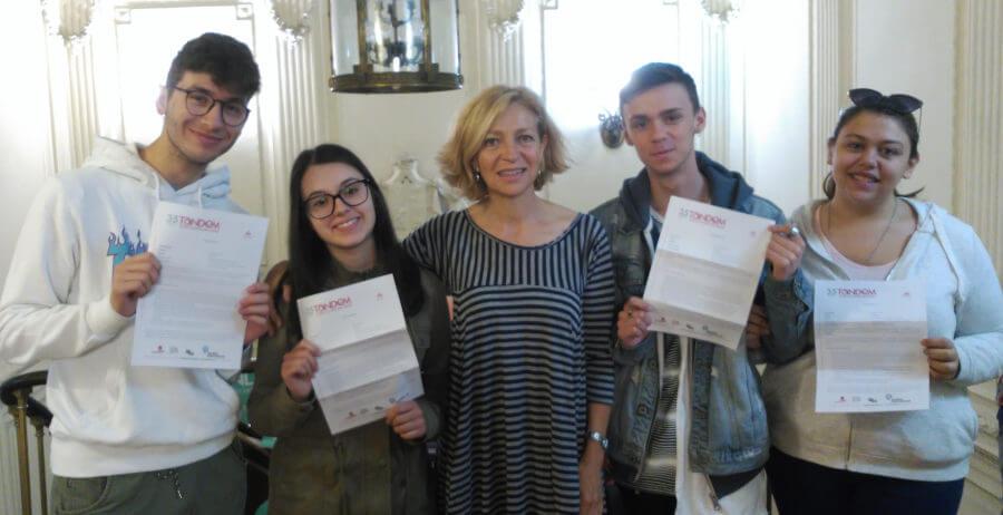 Estudiantes del curso español+prácticas en TANDEM Madrid
