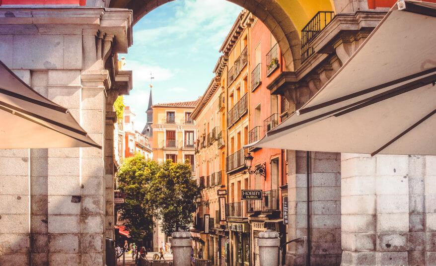 The Plaza Mayor in Madrid