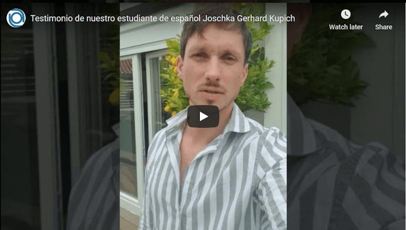 Testimonial of Joschka Gerhard Kupich